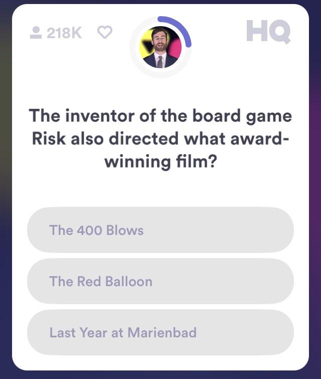 HQ Trivia Feb  12, 2018 9pm – Trivia Points